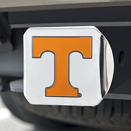 FANMATS NCAA Tennessee Volunteers University of Tennesseecolor Hitch - Chrome, Team Color, One Size
