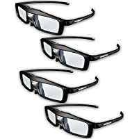 Evolved Dimensions (previously True Depth 3D) Firestorm LT Lightweight Rechargeable DLP link 3D Glasses for All 3D Projectors (Benq, Optoma, Acer, Vivitek, Dell Etc) and All DLP HD 3D TVs (Mitsubishi, Samsung Etc) Compatible At 96 Hz, 120 Hz and 144 Hz! (4 Pairs!)