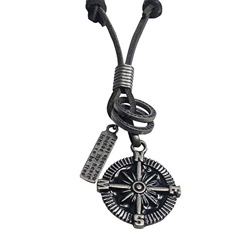 EBSEM Marine and Sealife Necklace, Genuine Leather Cord
