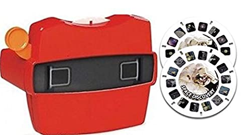 View-Master Red Classic Viewer with 2 Reels 3D Discovery Kids Space Discovery Toy - Discovery Viewer