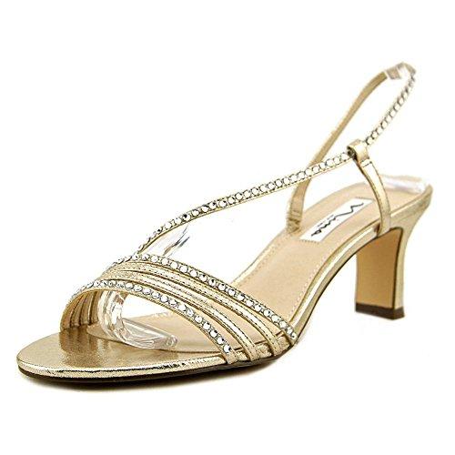 Heels Metallic Nina (NINA Women's Gerri Taupe 9.5 W US W)