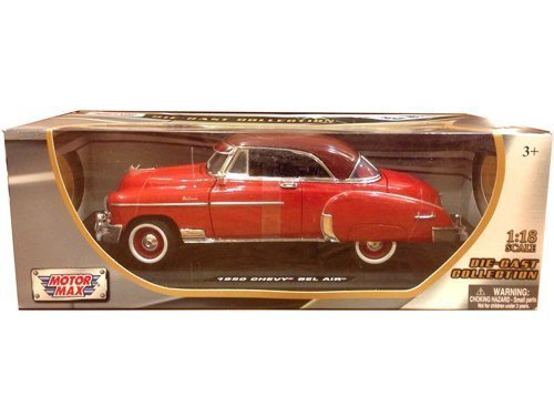 1950 Chevrolet Bel Air Red 1/18 by Motormax (1950 Chevrolet Bel Air Vehicle)