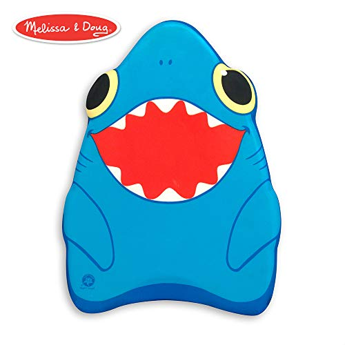 Melissa & Doug Sunny Patch Spark Shark Kickboard - Learn-to-Swim Pool Toy]()