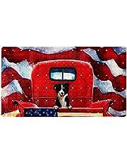 Non-Slip Bathtub Mat,Shower Bath Tub Mat,Rustic Farm Old red Truck House Yard Bath Mats for Bathroom,Comfortable Soft Textured
