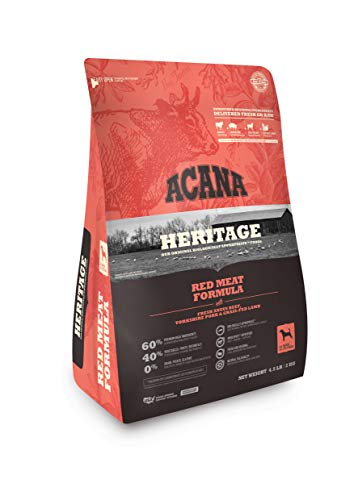 ACANA Heritage Dry Dog Food, Red Meat, Biologically Appropriate & Grain Free, 25 Pounds