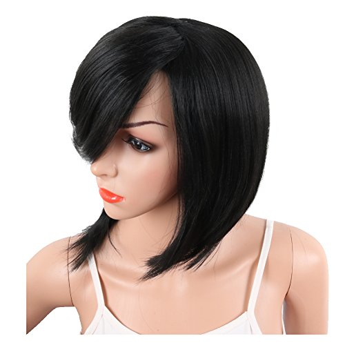 Krsi Short Pixie Cut Straight Bob Synthetic Wigs For Women Import