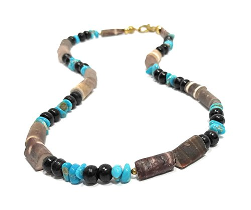 Castle Dome Turquoise Surfer Necklace With Sea Urchin Spines