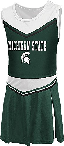 Girls Toddler Michigan State Spartans Green Aerial Cheer Set (3T) -