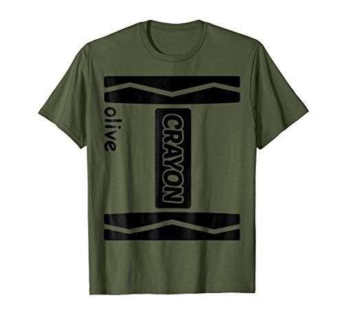 Olive Crayon Couple Friend Group Halloween Costume Shirt -