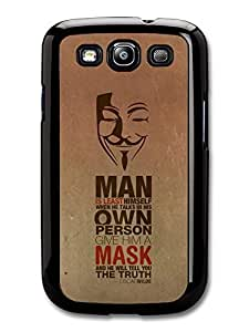 AMAF ? Accessories Anonymous Mask The Truth Oscar Wilde Life & Love Inspirational Quote case for Samsung Galaxy S3
