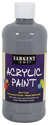Sargent Art 24-2484 16-Ounce Acrylic Paint, Gray
