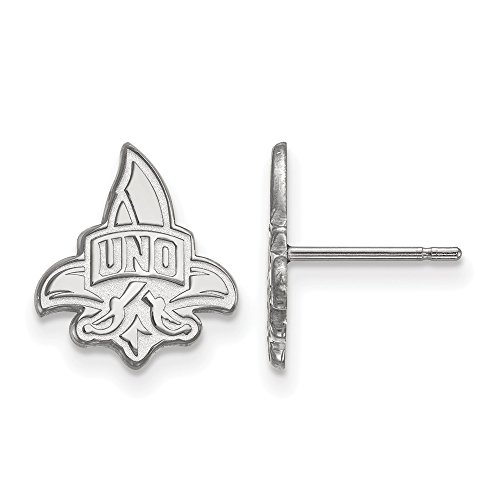 925 Sterling Silver Officially Licensed University College of New Orleans Small Post Earrings by Mia's Collection