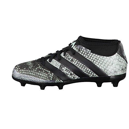 adidas Ace 16.3 Primemesh Fg/Ag J, Botas de Fútbol para Niños vapour green f16/core black/core black