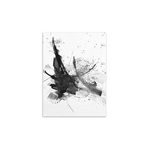 Modern Abstract Chinese Ink Splash Canvas A4 Art Poster Print Wall Picture -