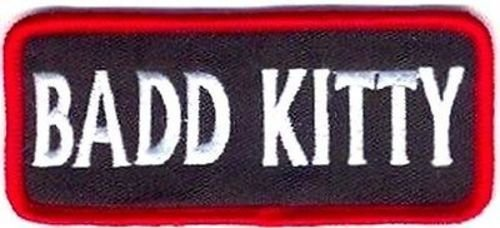 BAD KITTY Funny Embroidered Motorcycle Ladies MC Chick Biker Vest Patch ()
