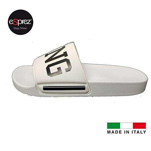 eSprez Ciabatta Uomo Blu Mare Piscina Fascia Gomma Stampa King Made in Italy