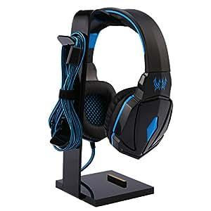 Headphone Stand,niceEshop(TM) Headset Earphone Stand Display Holder Hanger for All Headphone/Cellphone/ipad/watch, Black