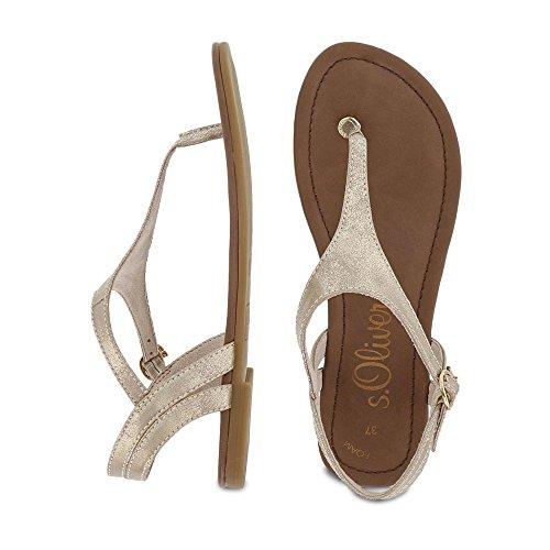 s.Oliver 5-5-28126-38/519 519 - Sandalias de vestir de Material Sintético para mujer Beige