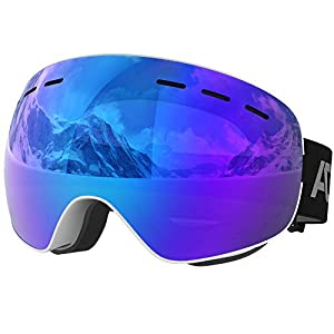 ACURE SG01 Lunettes de Ski – Lunettes de Snowboard OTG sans Cadre, sans Lunettes, avec Double lentille, Protection Anti-Brouillard et UV400 pour Hommes, Femmes et Jeunes
