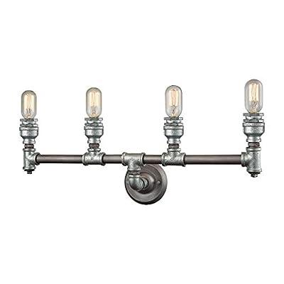 Elk Lighting Cast Iron Pipe 10685 4 4 Light Bathroom Vanity Light