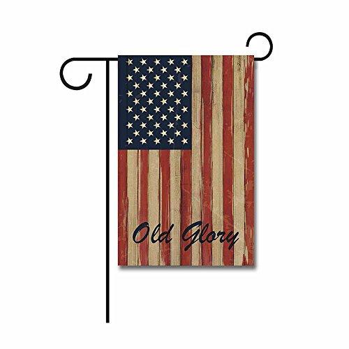 KafePross Wooden American Flag Garden Flag Old Glory Patriotic Banner 12.5