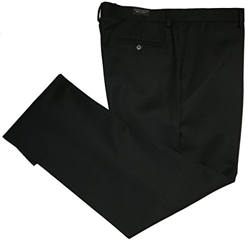 (Greg Peters All Wool Solid Gabardine Flat Front Dress Pants (44