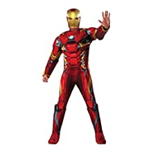 Rubies Costume Men's Captain America Civil War Deluxe Muscle Chest Iron Man Costume