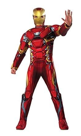 Marvel Men's Captain America: Civil War Deluxe Muscle Chest Iron Man Costume, Multi, X-Large