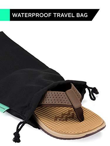 ec88f20b65c6 Mio Marino Beach Flip Flops for Men - Comfortable Flip Flop Sandals - Waterproof  Bag