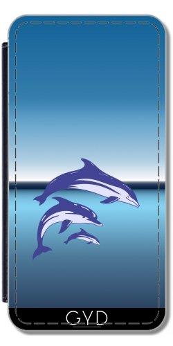 Funda Carcasa Cubierta de PU Cuero para Huawei P10 - Delfines by hera56