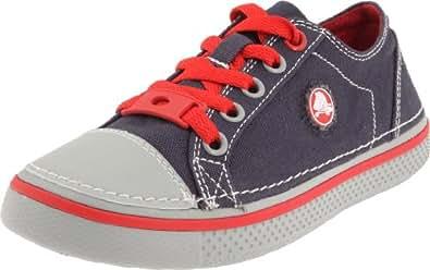 crocs - Zapatillas de tela para niño, Azul (Marine/gris clair), 24
