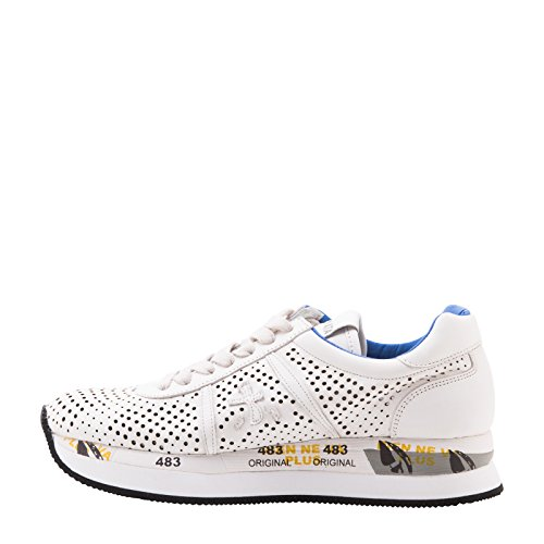 PREMIATA SNEAKERS DONNA CONNY1217 PELLE BIANCO