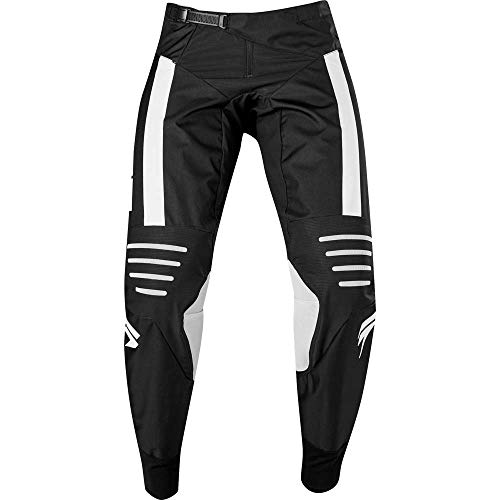 Shift Racing 3lack Strike Men's Off-Road Motorcycle Pants - Black/White / - Strike Pants Shift