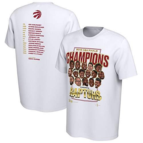 CHERSH algodón NBA Campeonato Raptors Leonard/Lori de Manga Corta ...