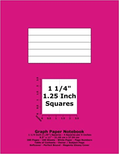 graph paper notebook 1 25 inch 1 1 4 squares 8 5 x 11
