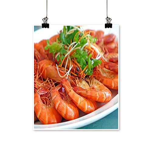Single paintingDelicious Boiled Shrimp Office Decorations,28