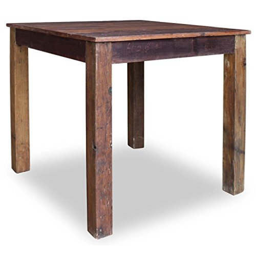 Festnight Vintage Style Wood Dining Table Solid Reclaimed Wood 32.3