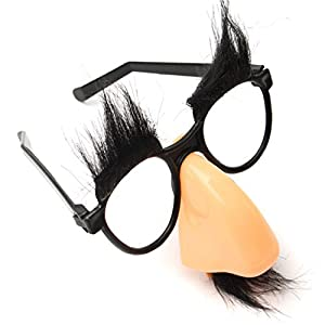 Funny Riding Cosplay Halloween Party Big Nose Beard Glasses