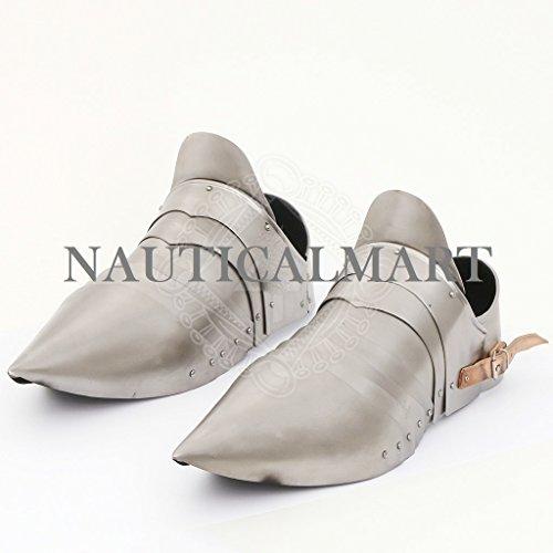 NAUTICALMART Armor Shoes Pair Medieval Knight Steel Armor Sabaton by NAUTICALMART
