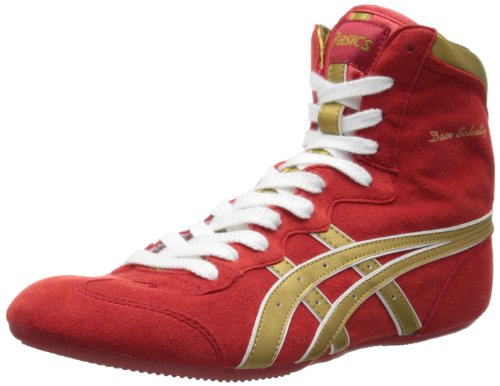ASICS Men's Dave Schultz Classic Wrestling Shoe,Red/Gold/White,11.5 M US