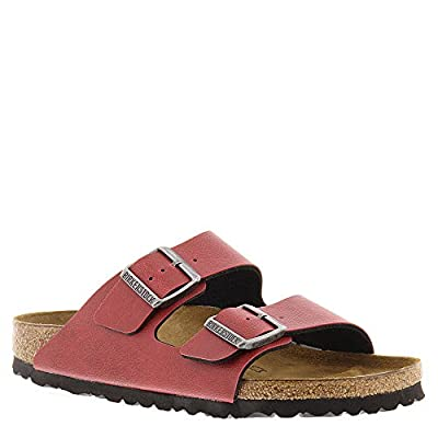 Birkenstock Women's Arizona Birko-Flo Bordeaux Birko-flor Pull Up Sandals - 38 M EU / 7-7.5 B(M) US Women / 5-5.5 D(M) US Men