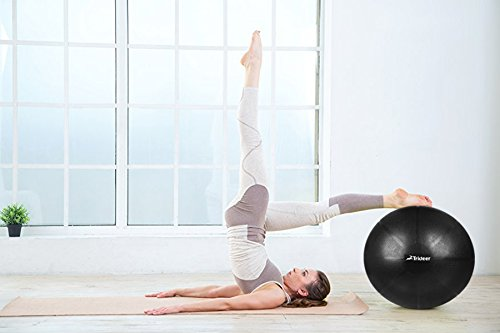 Trideer Exercise Ball (Multiple Color), Yoga Ball, Birthing Ball with Quick Pump, Anti-Burst & Extra Thick, Heavy Duty Ball Chair, Stability Ball Supports 2200lbs by Trideer (Image #10)