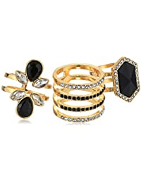 Womens 3 Piece Cocktail Ring Set