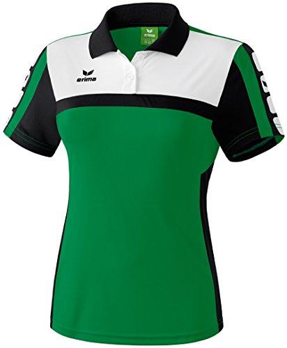 Erima-Polo de mujer 5Cubes Verde - verde, negro y blanco