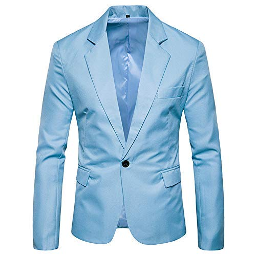 Baiggooswt Charm Men's Casual One Button Fit Suit Blazer Coat Jacket Tops