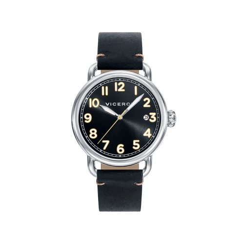 Watch Viceroy 42251-55 Black Male Leather Calendar