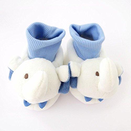 NEU   Baby Jungen Schuhe Hausschuhe weiß blau Elefant   0-6 Monate   6-12 Monate 0-6 Monate