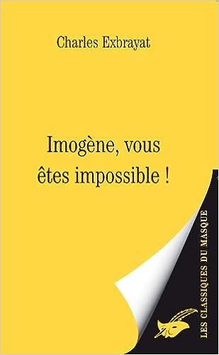 Livre gratuits Imogène, vous êtes impossible ! epub, pdf