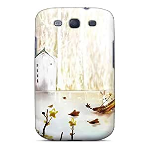 LJF phone case Flexible Tpu Back Case Cover For Galaxy S3 - Vector Autumn Season