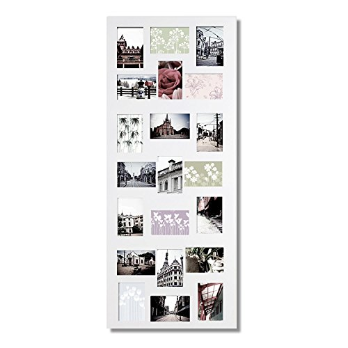 "Adeco PF0246 4x6"" White Wooden Wall Hanging Collage Puzzle P"